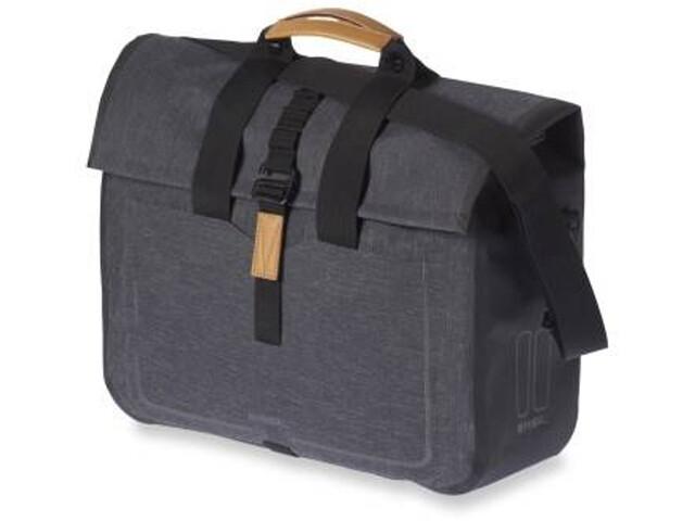 Basil Urban Dry Business Bicycle Bag 20l, charcoal melee